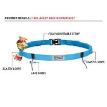 Fuelbelt Gel-Ready Number Belt Surf Blue