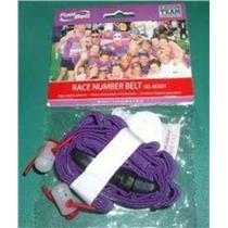 Fuelbelt Gel-Ready Race Number Belt Purple