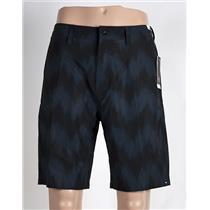 """Quiksilver Subtle 20"""" Amphibian Shorts 32 Blue/Black"""