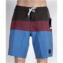 """The Panel Vee 19"""" Boardshorts Grey/Red/Blue 32"""