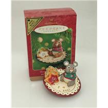 Hallmark Colorway / Repaint Ornament 2001 Sharing Santa's Snacks - #QX8212C-SDB