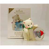 Hallmark Repaint Ornament 2010 Ten Terrific Years - Snowball & Tuxedo - QXE3053C