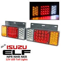 1 Pair Left + Right 12V LED Rear Tail Light Fit Isuzu Elf Truck NPR NKR NHR 84++