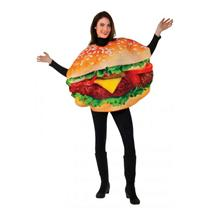 Grill-ty As Charred Burger Unisex Funny Halloween Party Tunic Adult Costume