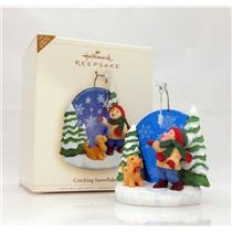 Hallmark Limited Ornament 2006 Catching Snowflakes - #QXE3256