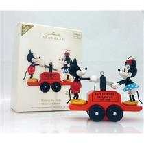 Hallmark Limited Ornament 2008 Riding the Rails - Mickey and Minnie - #QXE9004