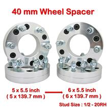 (4) 40mm 1/2-20RH PCD 5x139.7 to 6x139.7 mm Wheel Spacer Spacers 5 x5.5 to 6x5.5