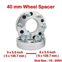 2 pcs 40mm 5 Studs 1/2-20RH PCD 5 x 139.7 to 6 x 139.7 mm Wheel Spacer Spacers
