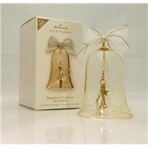 Hallmark Limited Ornament 2008 Ringing in Christmas - Glass Bell - #QXE9084