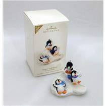Hallmark Limited Ornament 2008 Slippin' and Slidin' - Penguins at Play - QXE9064