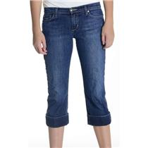 "Sz 29 Joe's Jeans ""Socialite Kicker"" Capri Cuffed Jeans in Kennedy Wash USA MADE"