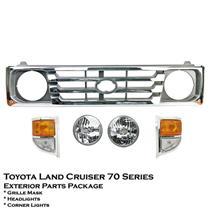 Chrome Grille Mask Headlight Corner Light Toyota Land Cruiser 70 71 73 75 84-99
