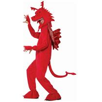 Forum Red Dragon Mascot Adult Costume