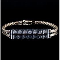 Vintage 1920's Platinum & 14k Yellow Gold Old Mine Cut Diamond Bracelet .69ctw