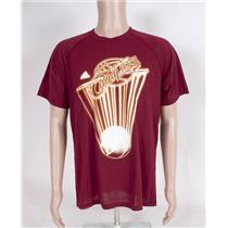 Adidas NBA Cleveland Cavaliers Basketball Men's T-shirt Large Red