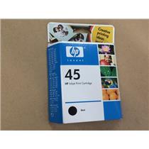 HP INK CARTRIDGE HP45 45 BLACK NEW