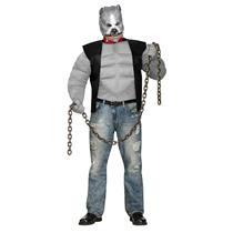 Fun World Men's Pit Bull Biker Dog Plus Size Costume & Mask up to 300 lbs