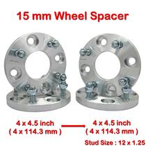 4 pcs 15mm 4 Studs 12 x 1.25 PCD 4 x 114.3 to 4 x 114.3 mm Wheel Spacer Spacers