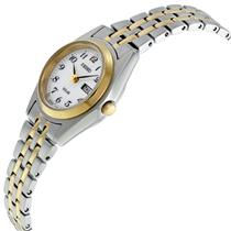 Seiko Womens SUT116 Ladies Easy Reader. Day and Date. Solar. Water Resistant.