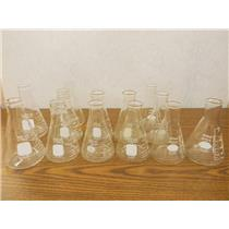 Assorted Threaded and Beaded Kimax & Pyrex Erlenmeyer Flasks 250-300mL (Lot)