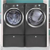 NIB Electrolux Front Load Electric Steam Washer Dryer Set + 2 Pedestals