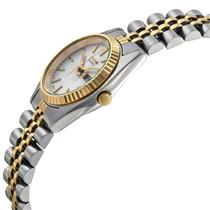 Seiko Watch Womens SWZ054 TwoTone. Day/Date.All Steel Glass Crystal.Water Resist