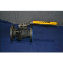 """FLOW-TEK F15 FLANGED BALL VALVE 1 1/2"""" W4H1022 Carbon Steel Body, Stainless Ball"""