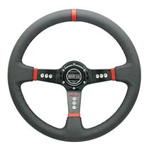 350mm PU Leather Deep Dish Racing Steering Wheel Can Fit MOMO SPARCO Boss Kit