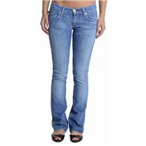 24 Rock & Republic Kasandra Red Swarvoski Logo Pocket Medium Wash Bootcut Jeans