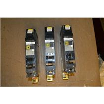(Lot of 3) SQUARE D FY-14020-A, FY-14020-B, FY-14020-C CIRCUIT BREAKERS 277V 1P