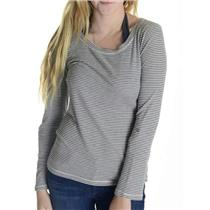 L Splendid Multi Gray Striped Cotton Blend Classic Light Thermal Top ST596948