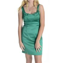 4 Max And Cleo Emerald Green Fully Lined Origami Fold Neck Line Cocktail Dress