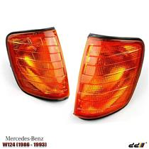 1 Pair Front Corner Indicator Light Lights Lamp Fit Mercedes E Class W124 86-96
