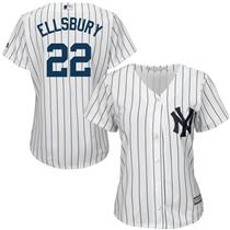 Jacoby Ellsbury New York Yankees Majestic Women's Cool Base Player Jersey -White