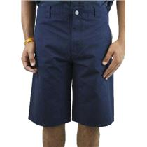 NEW Modern Amusement Mens Board Swim Surf Shorts Navy Blue White Stripe Trim