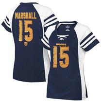 Majestic NFL Chicago Bears Brandon Marshall #15 Navy Women's Jersey
