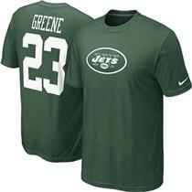 Nike NFL New York Jets Shonn Greene #23 Green T-shirt