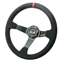 350 mm Suede Deep Dish Sport Racing Steering Wheel Fit MOMO SPARCO OMP Boss Kit