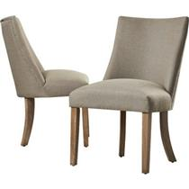 Lot of 2 Arda Parsons Chair W /Stainless steel apron banding Model  LARK1781