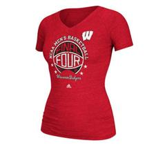 Women's Wisconsin Badgers NCAA Men's Basketball Tournament Final Four T-Shirt