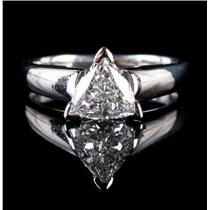 "Platinum Trillion Cut ""G"" Diamond Solitaire Engagement Ring 1.50ct"