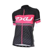 2XU Women's Perform Pro Cycling Jersey - Black / Pink - Women's Small