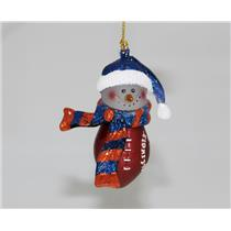 Scottish Christmas Ornament Illinois Fighting Illini Snowman with Scarf - #14608
