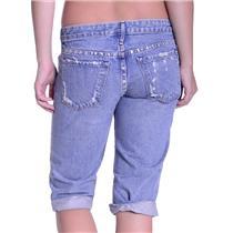Sz 26 NWT Authentic Earnest Sewn Hefner Rigid Badlands Crop Jeans Bermuda Short
