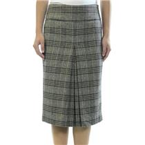 S Zara Basic Tweed Pencil Skirt Knee Length Pleated Front & Zip Side