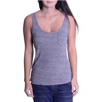 S AG Adriano Goldschmied Gray SOFT Viscose Tank Cool Asymmetrical Back USA MADE