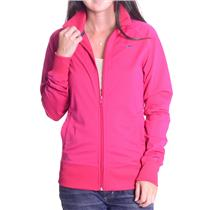 M Nike Fuchsia Pink Classic Style Polyester Zip Front Light Running Track Jacket