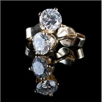 14k Yellow Gold Round Cut Diamond Solitaire Stud Earrings .75ctw