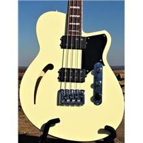 Reverend Guitars Dub King 4 String Semi Hollow Bass Guitar Cream