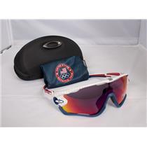 Oakley Jawbreaker Sunglasses White / Prizm Road Team USA Collection